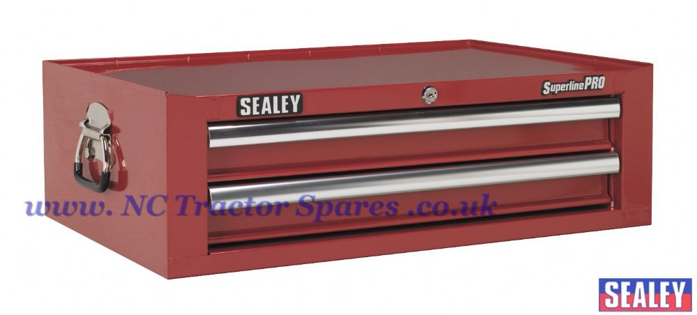 Add-On Chest 2 Drawer with Ball Bearing Runners - Red